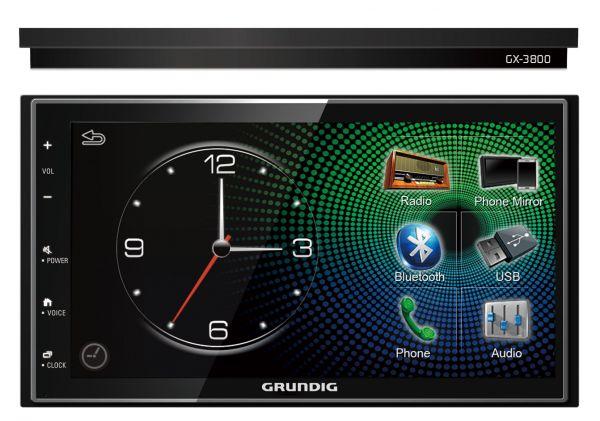 GRUNDIG GX-3800 Apple Carplay & Android Auto Receiver with Mirror Link /  Bluetooth / USB